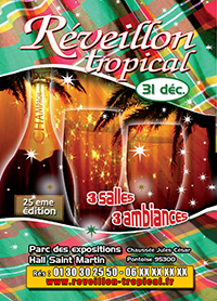 Affiche du reveillon tropical 2020